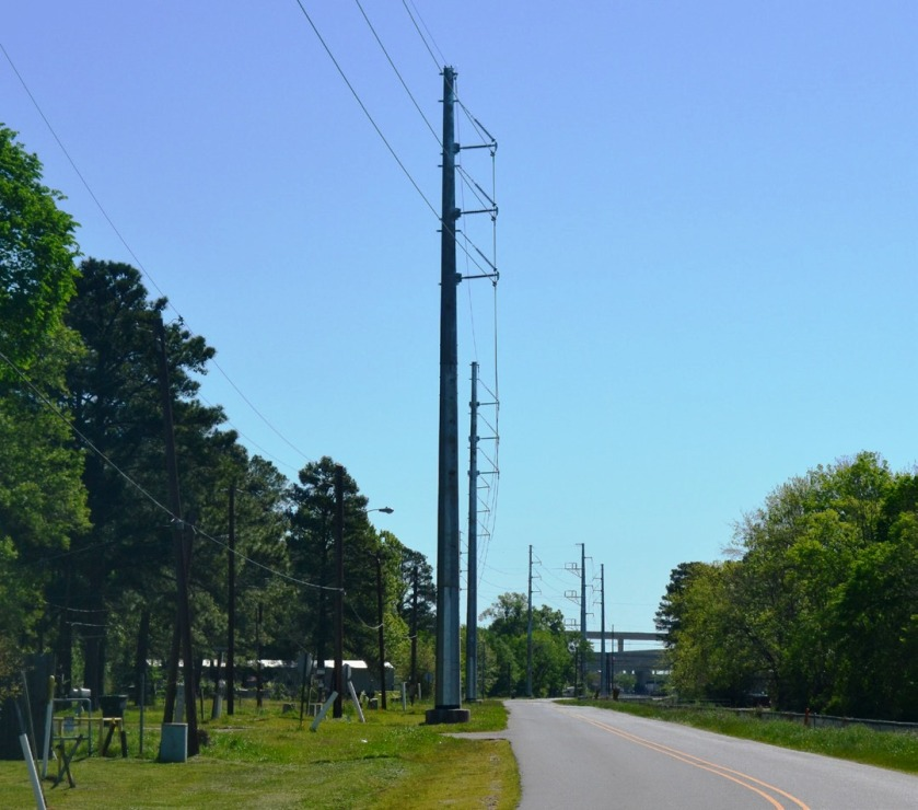 Powering Up Shreveport pole structure example