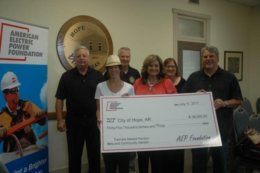 AEP Foundation gift to City of Hope July 2017