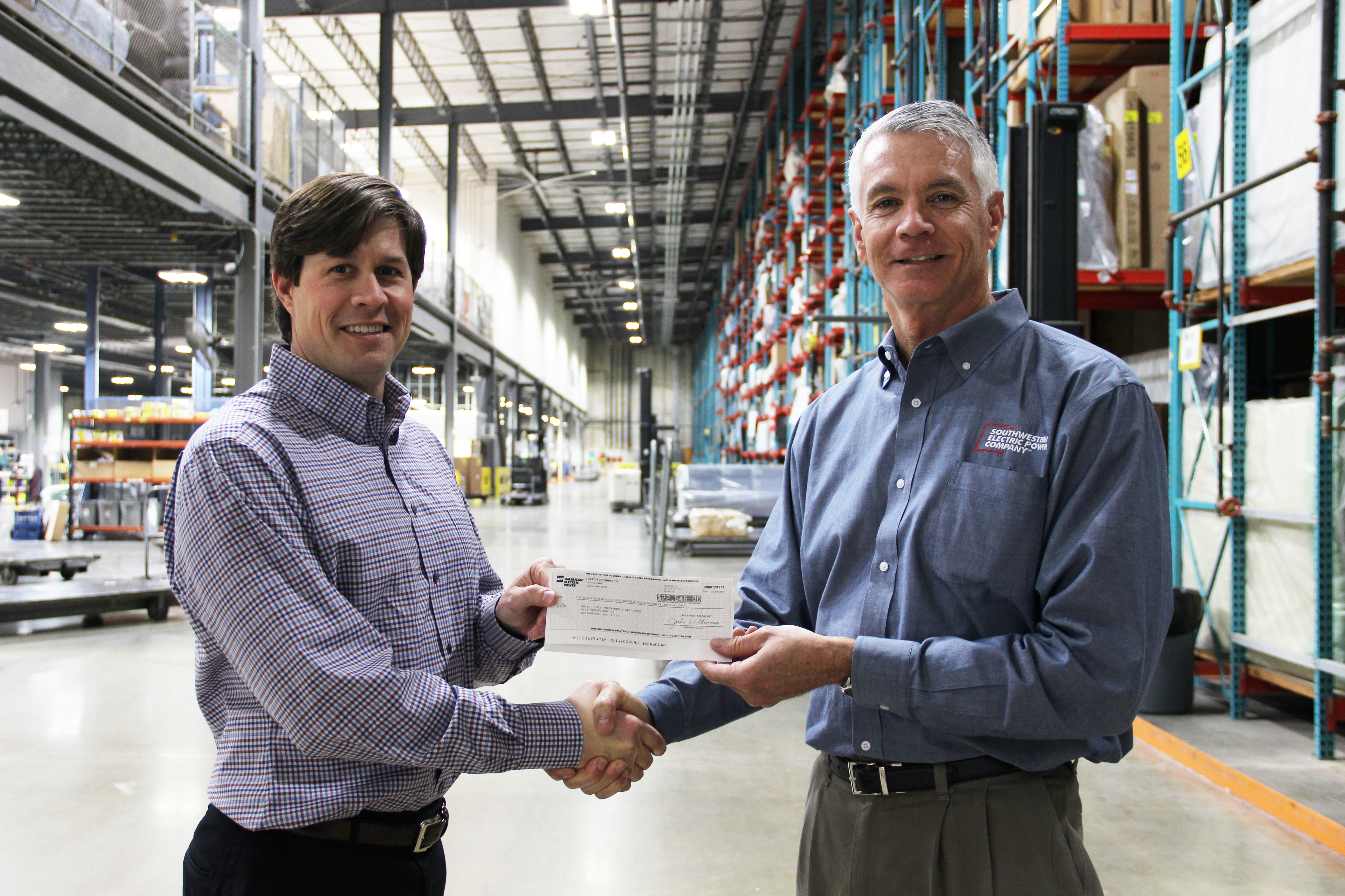 Ivan Smith Furniture Completes Lighting Retrofit, Receives Incentive Check