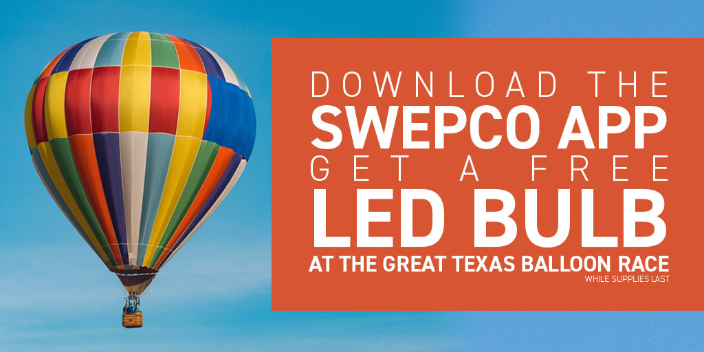 Get a free LED bulb at the Great Texas Balloon Race