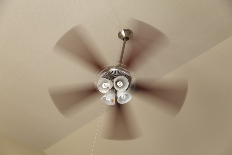Ceiling fan moving